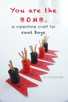 You are the Bomb Valentine Craft for cool boys