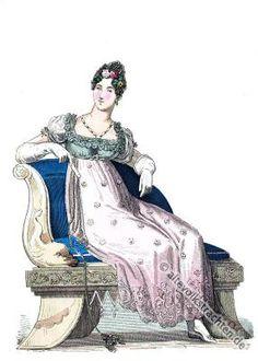 Englische Dame in der Mode des Regency. Edwardian Kostüm Epoche. Jane Austen Kostüme.