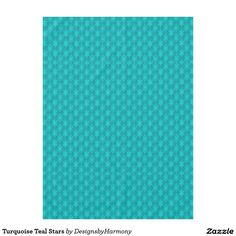 Turquoise Teal Stars Tablecloth