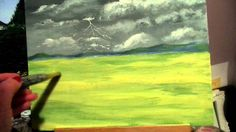 How to paint realistic grass with acrylic paint lesson 4