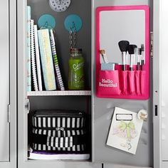 Gear-Up Locker Beauty Board #potterybarnteen! For my locker this year I'm getting this super cute beauty board  in pink!