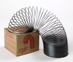 Who'da thunk it - a precompressed helical spring made fun #PastPresents #slinky #retrotoys #gifts #toys