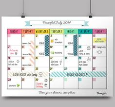 monthly schedule template free