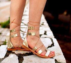 aelia allegory sandals in gold snake by aeliasandals on Etsy