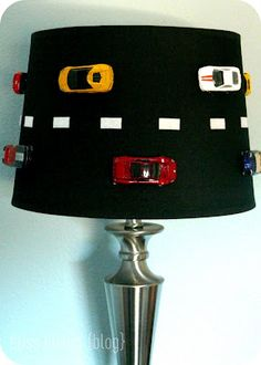 Cars lampshade...how to. For B's room when he gets a little older!