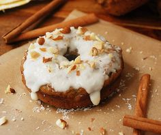 Pumpkin Spiced Donuts from @Heather (Multiply Delicious)