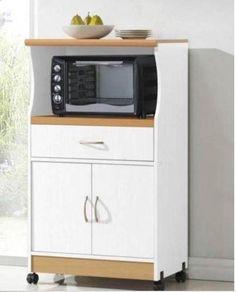 Porta microondas y hornito minimalista mod reston for Muebles auxiliares para microondas
