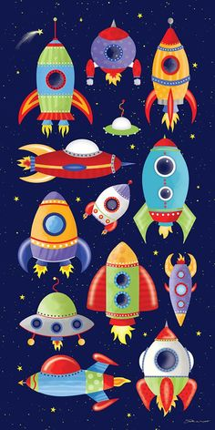 Great space print for the space lover. Space Party, Space Theme, Decoration Creche, Art For Kids, Crafts For Kids, Planet Drawing, Paper Stars, Painted Rocks, Activities For Kids