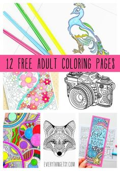 12 Free Adult Coloring Pages On EverythingEtsy Scheduled Via