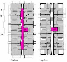 Wohnen Mit Scharf! / SUPERBLOCK #appartementen #duplex #kleur #typologie