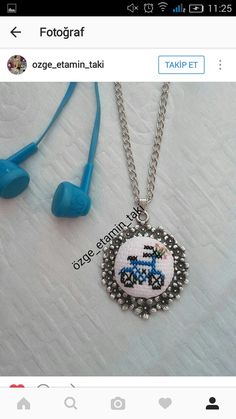 Items similar to Sailboat cross stitch necklace. Learn Embroidery, Hand Embroidery Stitches, Embroidery Jewelry, Cross Stitch Embroidery, Tiny Cross Stitch, Cross Stitch Charts, Cross Stitch Designs, Cross Stitch Patterns, Crochet Buttons
