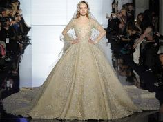 Zuhair Murad wedding dress Haute Couture Spring 2015 #bride #PFW