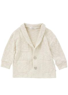 Grass Button Closure Popcorn Cardigan-Outerwear, Cardigan-benne bonbon
