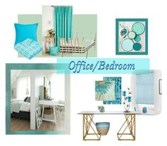 """""""office/bedroom"""" by lisajoc7 ❤ liked on Polyvore featuring interior, interiors, interior design, home, home decor, interior decorating, Jonathan Adler, Unitex International, Trademark Fine Art and Southern Tide"""