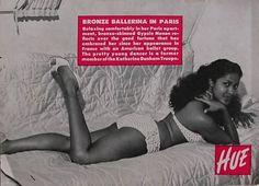 Bronze Ballerina in Paris (Marpessa Dawn) - Hue Magazine, May, 1956 Black Actresses, Black Actors, Marpessa Dawn, Black Orpheus, Black Pin Up, Vintage Black Glamour, Vintage Beauty, Vintage Hair, Vintage Vogue