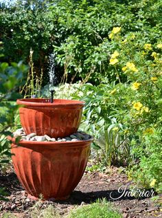 Homemade water fountain ideas yahoo image search results pinteres solar plant pot water fountain in under 15 minutes workwithnaturefo