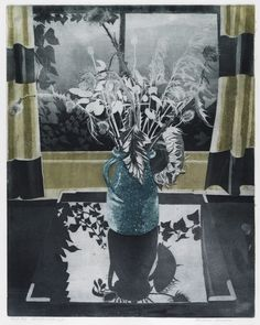 Richard Bawden: Winter Still Life. Richard Bawden is the son of Edward and Charlotte Bawden. Isn't this beautiful? Online Art Gallery, Art Forms, Graphic Illustration, Painting & Drawing, Flower Art, Printmaking, Still Life, Screen Printing, Art Drawings