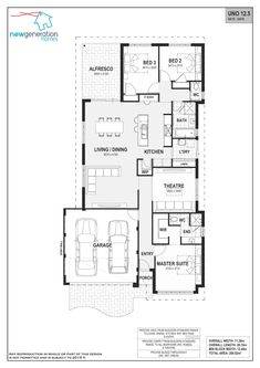 Uno - Summit Homes Best House Plans, House Floor Plans, Starter Home Plans, 1 Bedroom House Plans, Narrow House Plans, Summit Homes, Architectural Floor Plans, Good House, New Home Designs