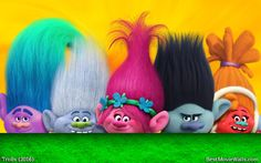 A bunch of colourful #Trolls from Dreamworks' Trolls 2016 :]