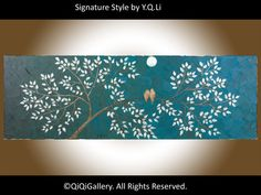 Abstract Landscape Painting Original Modern Heavy by QiQiGallery, $185.00