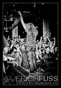 Sebastian Bach...another great photo by Erich Fuss 2013 @ Peabodys Conecrt Club which was torn down in December of 2013