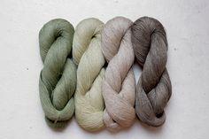 Set of 4 linen skeins  woodland от YarnStories на Etsy