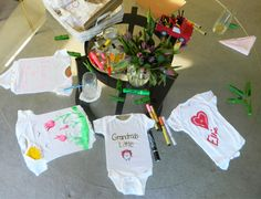 Baby Shower: Decorate a onesie for the baby
