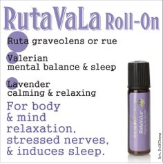 RutaVala Roll-On for Body & Mind Relaxation Stressed Nerves & Induces Essential Oils For Autism, Young Living Essential Oils, Mind Relaxation, Living Essentials, Young Living Oils, Doterra Oils, Oil Uses, How To Relieve Stress, Insomnia