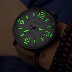 96bf7221e89 Barato Marca de Moda de luxo Mens Horas Relógio Digital Couro Relógios  Militar Esporte Exército De