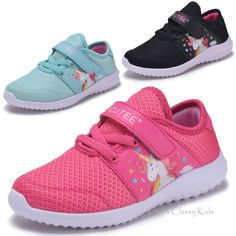 Baby shoes new girls fuchsia mint black unicorn sneakers tennis sho Girls Sneakers, Casual Sneakers, Girls Shoes, Baby Shoes, Toddler Sports, Black Unicorn, Lit Shoes, School Shoes, Workout