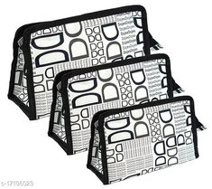 Pouches & Potlis Trendy Cosmetic & Travel Pouch (Set of 3)  Material: Canvas Pattern: Printed Multipack: 1 Sizes:  Free Size (Length Size: 24 cm, Width Size: 10 cm, Height Size: 16 cm)  Country of Origin: India Sizes Available: Free Size   Catalog Rating: ★4.3 (2309)  Catalog Name: Ravishing Versatile Women Pouches & Potlis CatalogID_2516250 C73-SC1077 Code: 602-17105023-993