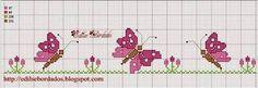 Resultado de imagem para graficos ponto cruz borboletas
