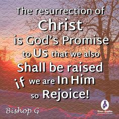 It is settled. If you are in Christ you WILL be raised!  #BishopGQuotes More at #RisenScepter owl.li/4mZ4NS