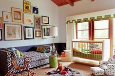 Eclectic Nursery - Design photos, ideas and inspiration. Amazing gallery of interior design and decorating ideas of Eclectic Nursery in nurseries, boy's rooms by elite interior designers - Page 2 Nursery Design, Nursery Decor, Nursery Daybed, Nursery Ideas, Nursery Room, Bedroom Decor, Chic Nursery, Room Baby, Playroom Ideas