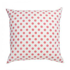 NEW CORAL DOT PILLOW (also available in fabric by the yard)