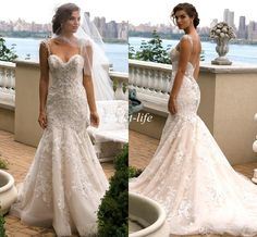Eve of Milady 2016 Vintage Wedding Dresses Lace Backless Spaghetti Crystal Plus Size Sleeveless Cheap Spring Boho Beach Wedding Bridal Gowns Online with $145.14/Piece on Sweet-life's Store   DHgate.com
