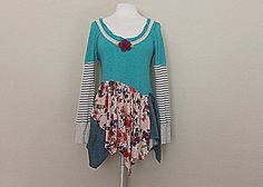 Boho Funky Shirt  Women's Clothing  Hippie by AmadiSloanDesigns, $41.00
