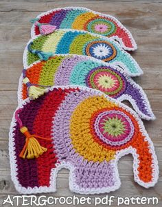 Crochet pdf pattern ELEPHANT by ATERGcrochet by ATERGcrochet