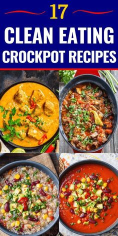 Easy Slow Cooking Dinner Recipes for Busy Nights 17 Clean Eating Crockpot Recipes! Easy Slow Cooking Dinner Recipes for Busy Nights,Crock pot 17 Clean Eating Crockpot Recipes If. Clean Eating Recipes For Dinner, Clean Eating Snacks, Cook Dinner, Healthy Chicken Recipes For Weight Loss Clean Eating, Eat Clean Recipes, Clean Eating Soup, Clean Eating Chicken, Dinner Crockpot, Eating Habits