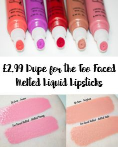 AMAZING Too Faced Melted Liquid Lipstick DUPE!