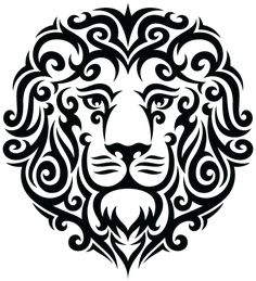 """tribal lion tattoo - pretty sure this is what is coming next!  Going to weave in the words from William Ernest Henley's 'Invictus' - """"I thank whatever gods may be  For my unconquerable soul"""""""