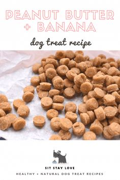 Train your puppy with these bite-sized dog treats. Their homemade and natural so you know that even though you need a lot of them, it's good for them. treats Peanut butter banana training treats by Sit Stay Love Puppy Treats, Diy Dog Treats, Healthy Dog Treats, Homeade Dog Treats, No Bake Dog Treats, Soft Dog Treats, Peanut Butter Dog Treats, Pumpkin Dog Treats, Gourmet Dog Treats