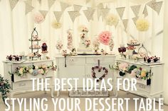 The best quick and easy ways to decorate your wedding dessert table or bar to make it look beautiful and unique