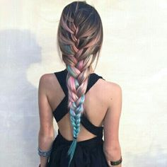 #trenzas #color