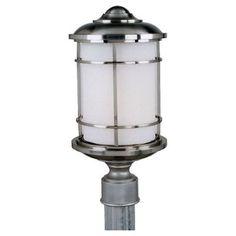 Feiss OL2207 Brushed Steel 1 Light Post Light from the Lighthouse