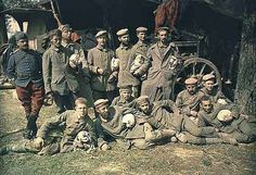 German prisoners of war, France, c. 1914 | 16 Edwardian Colour Photos That Will Make You Feel Like A Time Traveller