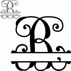 Silhouette Design Store - Search Designs : initial family