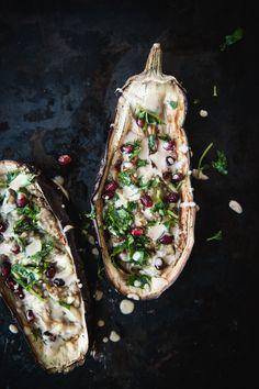 Roasted Eggplant with Silan Techina: the kosher spoon