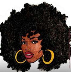 White Artist with Afro Natural Hair Art, Pelo Natural, Natural Hair Styles, Black Girl Art, Black Women Art, Art Girl, Black Girls, African American Art, African Art