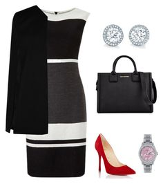 A fashion look from February 2017 featuring round neck dress, longline coat and red high heel pumps. Browse and shop related looks. High Heel Pumps, Pumps Heels, Back To Work, Occasion Wear, Karl Lagerfeld, Boohoo, Rolex, Christian Louboutin, Fashion Looks